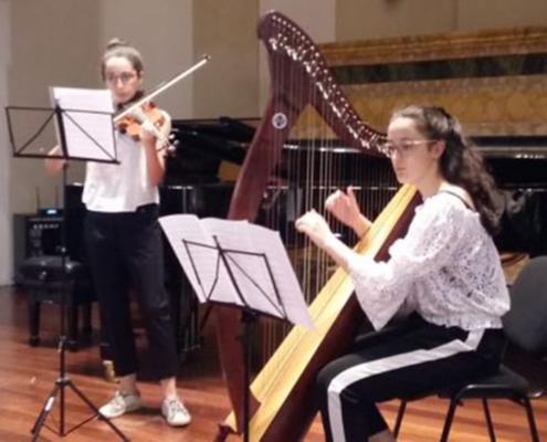 Saggio di arpa e violino
