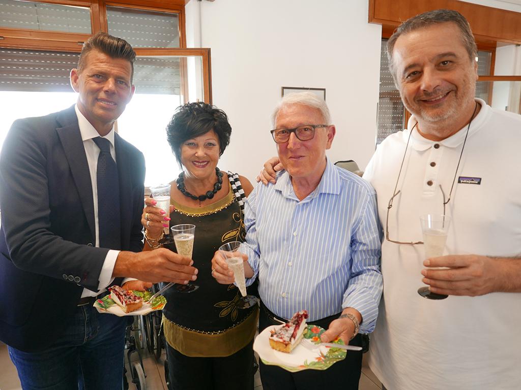 La festa per Mario Casagrande alla Fondazione Città di Senigallia