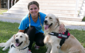 Agnese Mancini con i suoi Golden Retriever