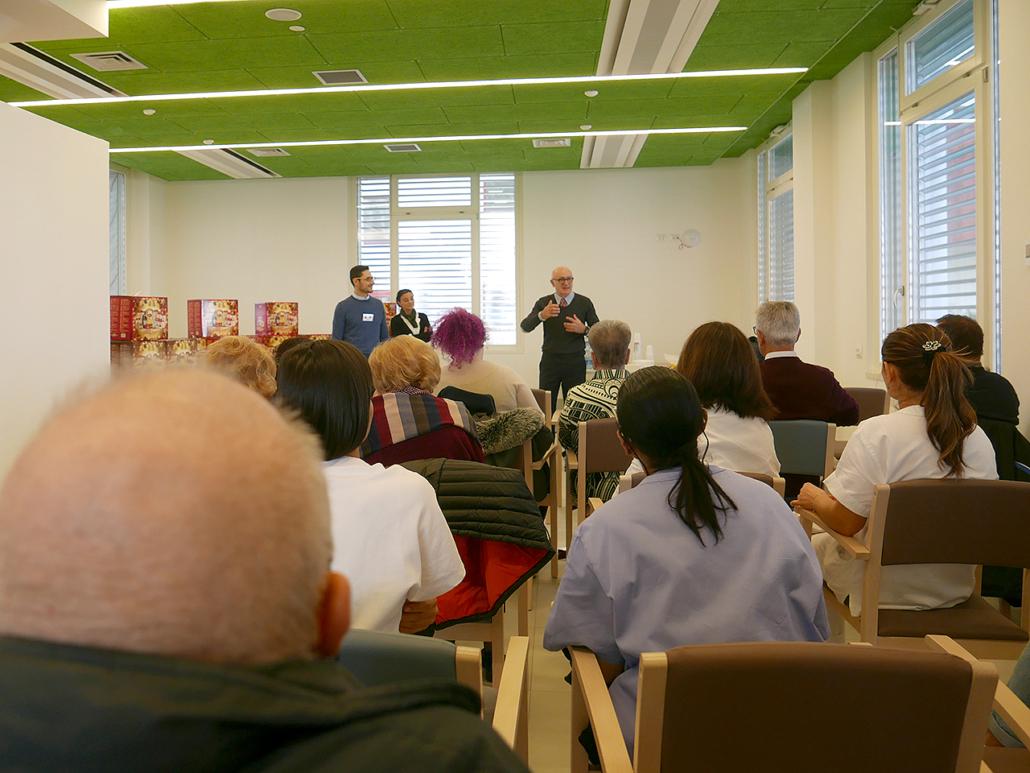 Il saluto al personale della Fondazione Città di Senigallia