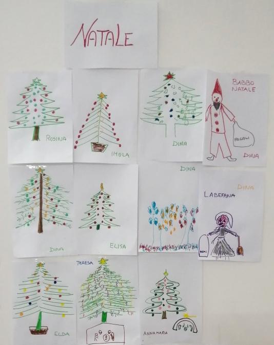 I disegni realizzati dagli ospiti della Fondazione Città di Senigallia durante le attività per il recupero cognitivo